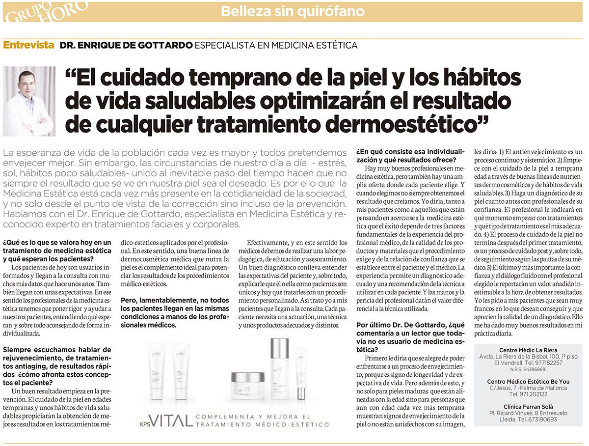 de Gottardo entrevistat a La Vanguardia